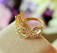 Diamond Golden Mask Fashion Rings
