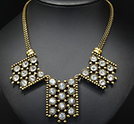 Golden Geometry Statement Necklace