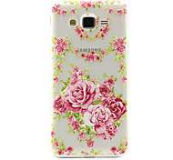 Rose Pattern TPU Relief Back Cover Case for Galaxy J1 Ace/ Galaxy J2/Galaxy J5