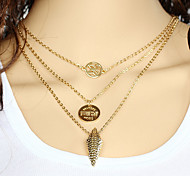 Wholesale Women Necklace European Style Butterfly Layered Chain Necklace