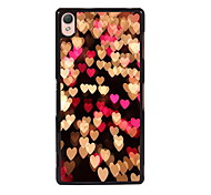 For Sony Case / Xperia Z3 Pattern Case Back Cover Case Heart Hard PC for SonySony Xperia Z3 / Sony Xperia Z3 Compact / Sony Xperia M4