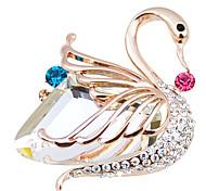 High-Grade Crystal Fine Swan Brooch