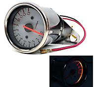 Universal Motorcycle Tachometer Tacho Gauge Speedometer hour meter Fits