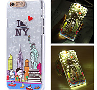 Nova Iorque cidade luz do flash sentido padrão lcd caso capa Voltar para o iPhone 6 / 6s