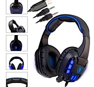 SADES High Sensitivity Mic Sound Stereo Blue LED Gaming Headphone Noise-cancelling Headset