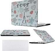 "2 in 1 LOVE Eiffel Tower Hard Plastic Case Cover for MacBook  Pro 13"" /15 ""+ Transparent Keyboard Cover"