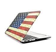 """2 in 1 Retro USA-Flagge Vollhartplastik Abdeckung für MacBook Pro 13 """"/ 15"""" + transparente Tastaturabdeckung"""