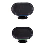 Digital Auto Car Thermometer Voltmeter Voltage Meter Noctilucous Clock Freeze Alert + Batteries