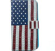 U.S.A Pattern PU Soft Case for iPhone 5G/5S