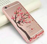 sous un cerisier plein d'acrylique emballage transparent étuis souples pour iPhone6 / 6s iPhone (couleurs assorties)