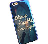Goodnight Kiss Me Interstellar Blue Light Blu-ray Star Trek Soft TPU Case for iphone 6 Plus / 6s Plus