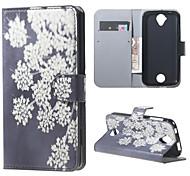 Für Acer Hülle Kreditkartenfächer / Geldbeutel / mit Halterung / Flipbare Hülle / Muster Hülle Handyhülle für das ganze Handy Hülle Blume