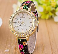 Woman Monocular Narrow Belt Diamond Wrist  Watch