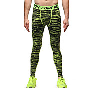 Running Tights / Pants / Bottoms Men's Breathable / Lightweight Materials Fitness / Running Vansydical Sports Wear Tight PerformanceGreen