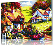 DIY Digital Oil Painting  Frame Family Fun Painting All By Myself  Mountain Cabin X5032