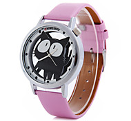 Women's Cartoon Cat PU Band Quartz Watch