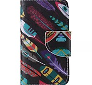 Leaf Graffiti Pattern Cell Phone Leather For iPhone 4/4S
