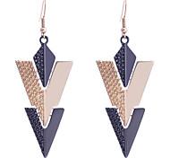European Style Vintage Triangle Joint Dangle Alloy Earrings