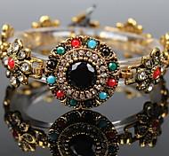 Gem Diamond Buckle Bracelet Snaps Jewelry