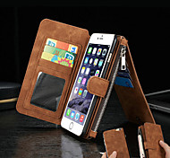 Leather Wallet Cards Split Magnetic Force Leather Wallet for iPhone 6s 6 Plus