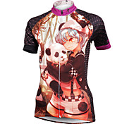ilpaladinoSport Women Short Sleeve Cycling Jersey New Style Distinctive  DX587  panda 100% Polyester