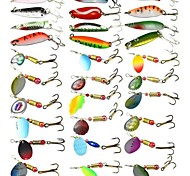 Anmuka Fishing Tackle 30Pcs Fishing Lure Metal Spoon Lures Mix Size Metal Lure Fishing Lure For Fishing Bait FreeShip
