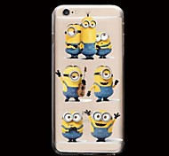 Yellow People Pattern PC Hard Phone Case for iPhone 5/5S