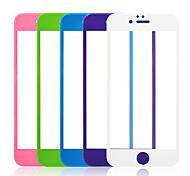 9h película protectora de pantalla borde redondo templado opaco pulido de vidrio templado de fibra de carbono 3d para iPhone6 / 6s 4,7