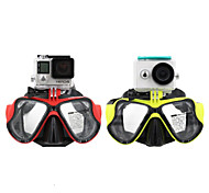 TELESIN Diving Mask w/ Mount Compatible withXiaomi Yi,Swimming Mask for Snorkel / Snorkeling