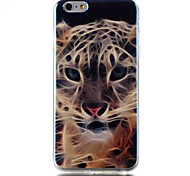 caso de volta suave tigre padrão TPU blu-ray capa para o iPhone 6 6s plus / iphone mais