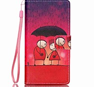 EFORCASE® Sunset Red Painted Lanyard PU Phone Case for Huawei P8lite