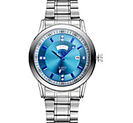 Men's Fashion Watch High-End Men's Double Calendar Waterproof Steel Quartz Watch Blue Face (Assorted Colors) Wrist Watch Cool Watch Unique Watch