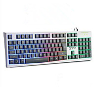 MS-200 Dazzle Colour Backlit Light The Game Is Waterproof Mute Laptop Desktop Keyboard USB Cable