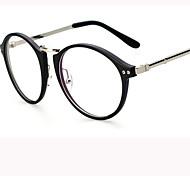 [Free Lenses] Metal Oval Full-Rim Retro/Vintage Prescription Eyeglasses