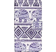 Elephant Painted PU Phone Case for Sony Xperia Z5 Compact