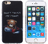 New Beer Pattern Waves Slip Handle TPU Soft Phone Case for iPhone 6/6S