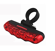 5 Super Bright LED Safety Bicycle Cycling Rear Tail Light Warning Water Resistant Bike Lamp Accessories