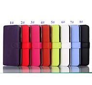 couleur pure et noble de haute qualité en cuir PU cas de tout le corps avec béquille et cartes fentes pour iPhone 6