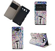 Umbrella Girl Pattern PU Leather Full Body Cover with Stand for Nokia Lumia 950XL N950XL