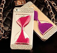 diamante del diamante artificial cubierta dinámico líquido de reloj de arena para el iphone 6 / 6s (colores surtidos)