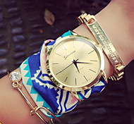 Bohemian Style Chiffon Watches Cloth Watch Geometric Patterns Geneva Watches Female Watches Gift Idea