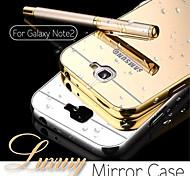 caso de alta qualidade alumínio metálico espelho acrílico caso tampa traseira elegante para samsung galaxy note 2 / nota 3 / nota 4 / nota