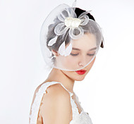 Beautiful Net With Feather Women's Fascinators