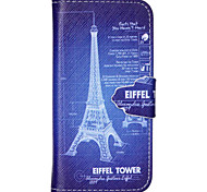 Digital Tower Pattern PU Leather Full Body Cover with Stand for iPhone 6/iPhone 6S