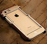 caixa do telefone do metal de combinação mecânica pau-brasil para iphone 6plus / 6s mais (cores sortidas)