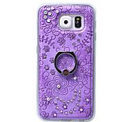 TPU caso de capa mole de diamante de volta com suporte de toque do telefone móvel shell telefone móvel por galáxia S6 borda / beira S6