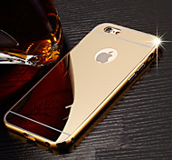 High Quality Luxury Protective Metal Bumper Frame with Back Cover for iPhone 6/6S (Assorted Colors)