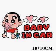 Funny Crayon Shin-chan Baby in Car Car Sticker Car Window Wall Decal Car Styling