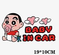 divertido bebé Crayon Shin-chan en etiqueta engomada del coche del coche ventana del coche estilo pared coche calcomanía