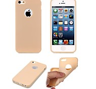 For iPhone 5 Case Frosted Case Back Cover Case Solid Color Soft TPU iPhone SE/5s/5